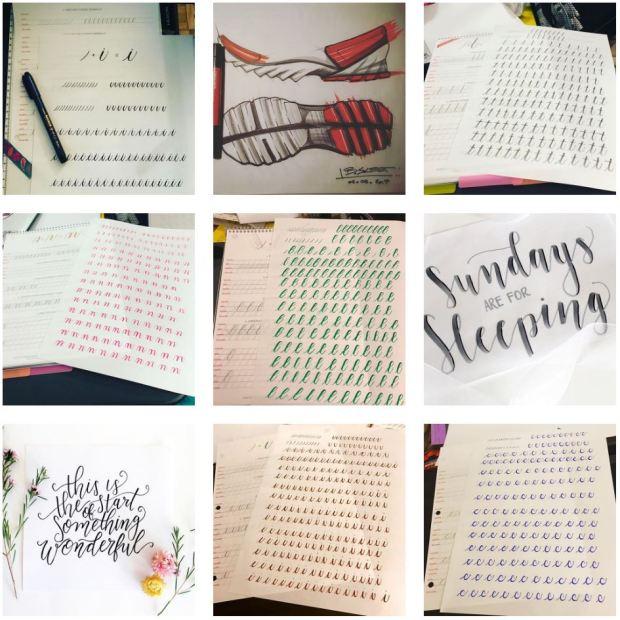 Brush Lettering - Canson Marker Paper.JPG